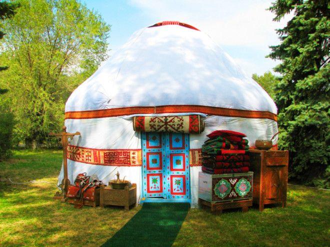 Традиционная казахская юрта Фото elkz
