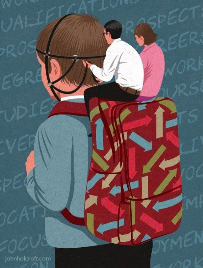 Злоупотребление в нашей жизни от художника-сатирика Джона Холкрофта