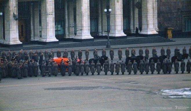 Похороны Сталина найдены уникальные цветные кадры