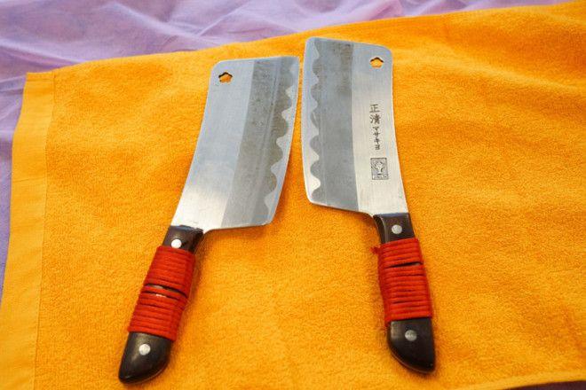 Массаж ножами оригинальный способ расслабления