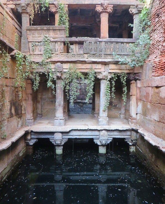 Необычайно романтический пейзаж архитектура, индия, ступенчатый колодец