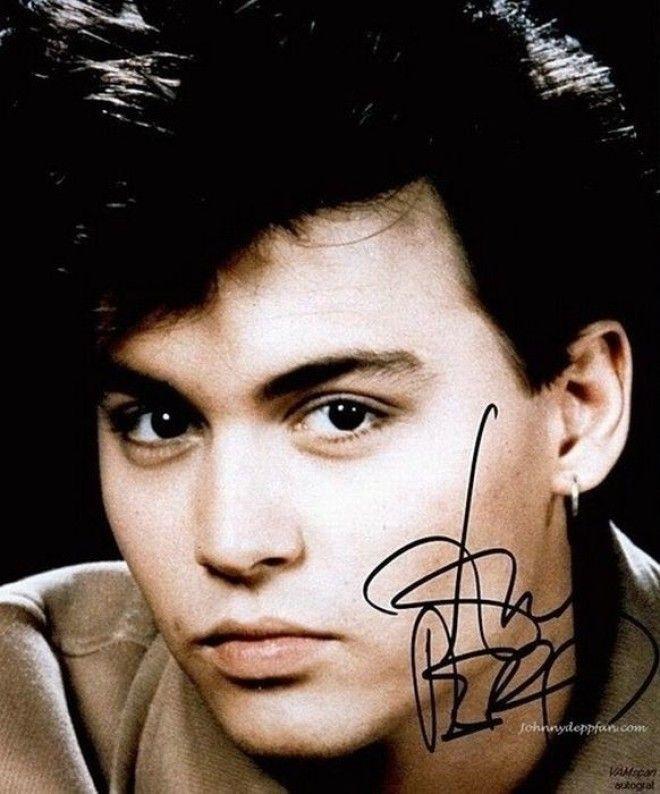 Джонни Депп автографы известных людей