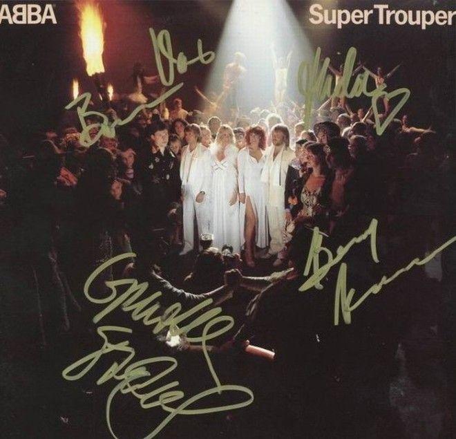 АББА автографы известных людей