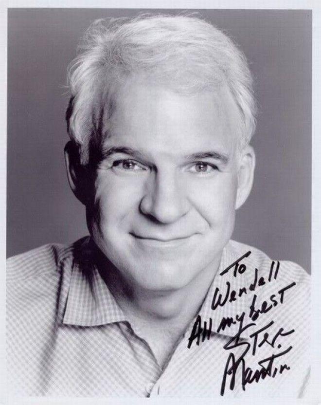 Стив Мартин автографы известных людей