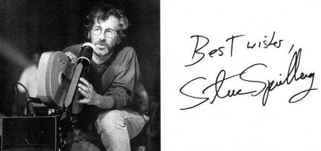 Стивен Спилберг автографы известных людей