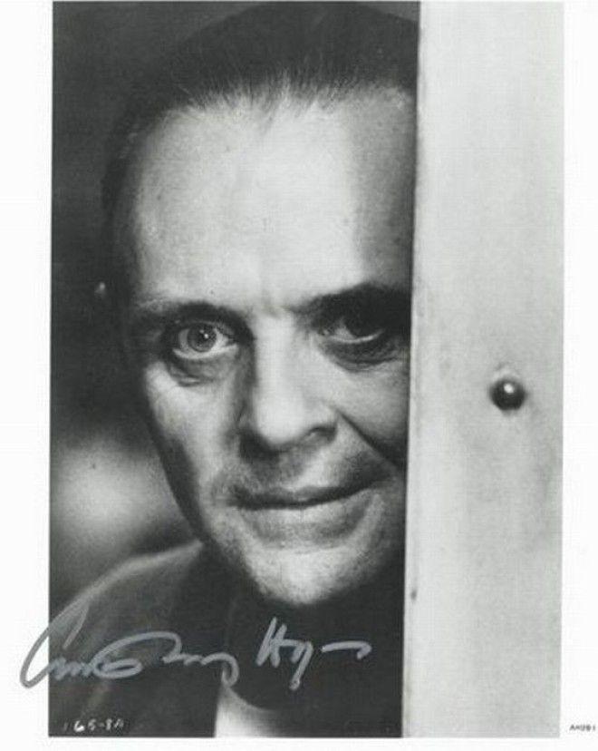Энтони Хопкинс автографы известных людей