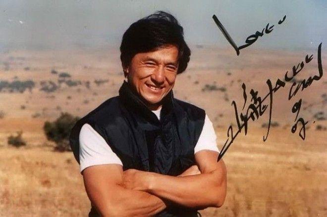 Джеки Чан автографы известных людей