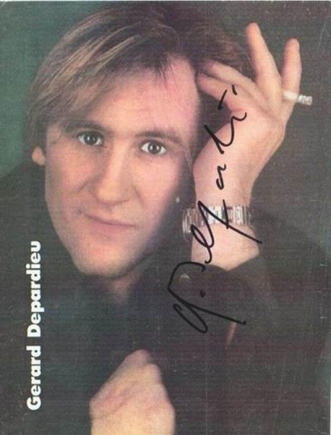 Жерар Депардье автографы известных людей