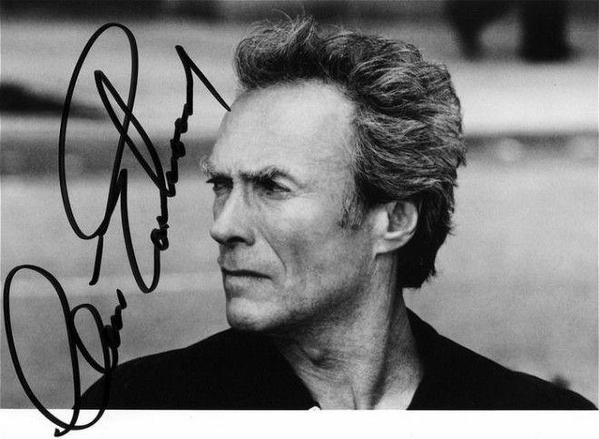 Клинт Иствуд автографы известных людей