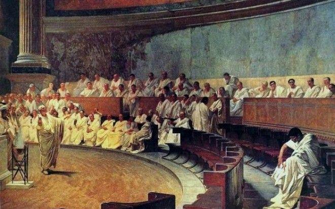 Цицерон произносит речь против Катилины Чезаре Маккари Фото perepravaorg