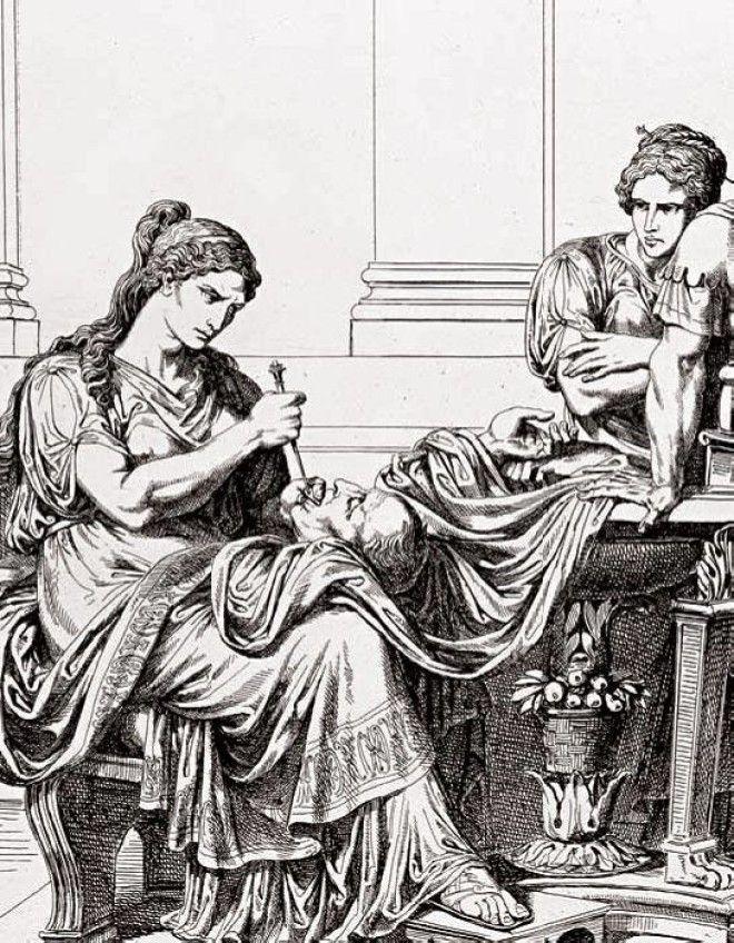 Фульвия злорадствует над головой Цицерона Фото ogrikru