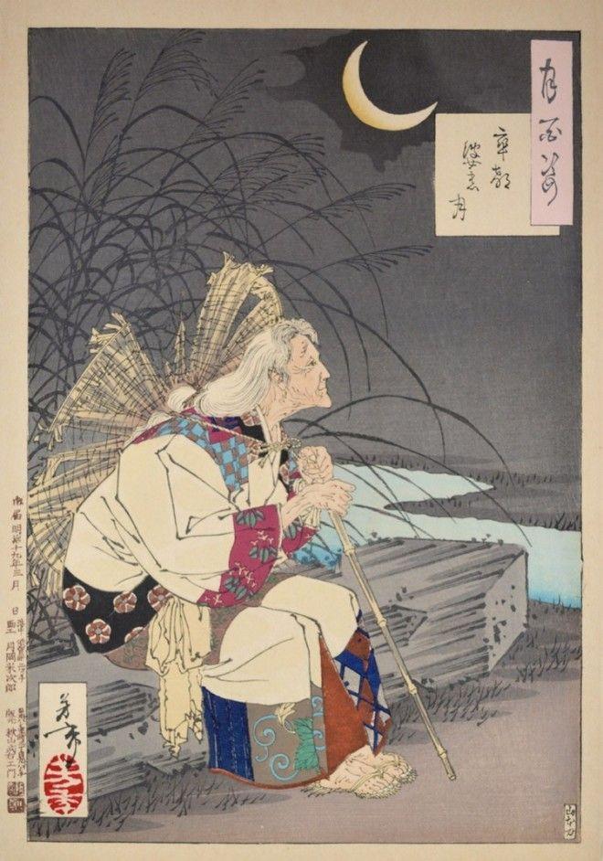 «Сто видов Луны» – величайшие гравюры мастера укиё-э Цукиока Ёситоси 10