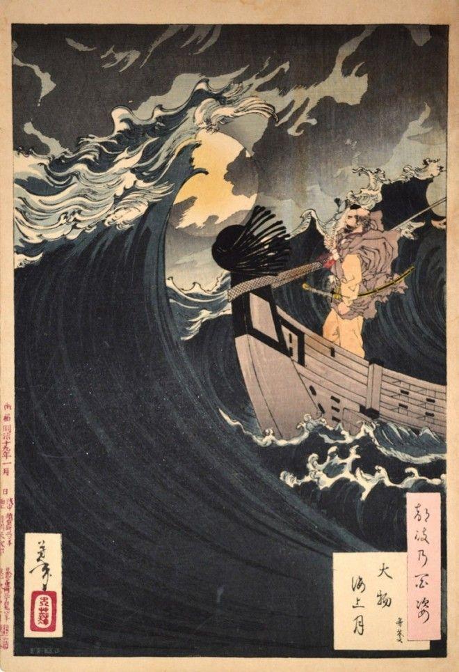 «Сто видов Луны» – величайшие гравюры мастера укиё-э Цукиока Ёситоси 13