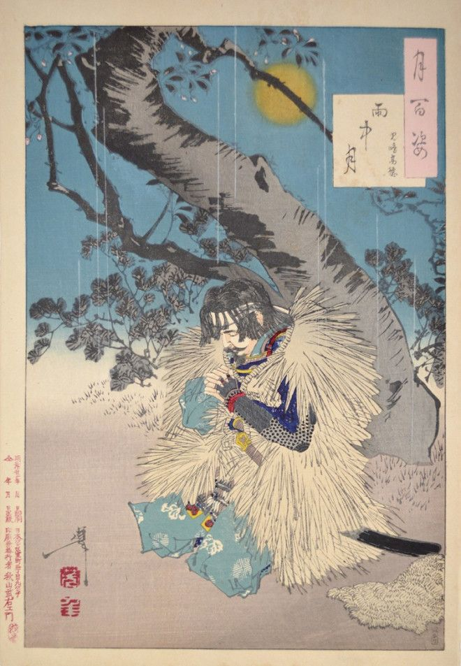 «Сто видов Луны» – величайшие гравюры мастера укиё-э Цукиока Ёситоси 14