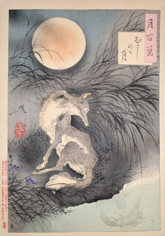 «Сто видов Луны» – величайшие гравюры мастера укиё-э Цукиока Ёситоси 15