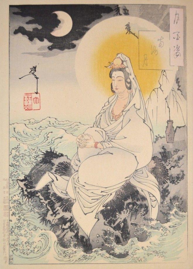 «Сто видов Луны» – величайшие гравюры мастера укиё-э Цукиока Ёситоси 18