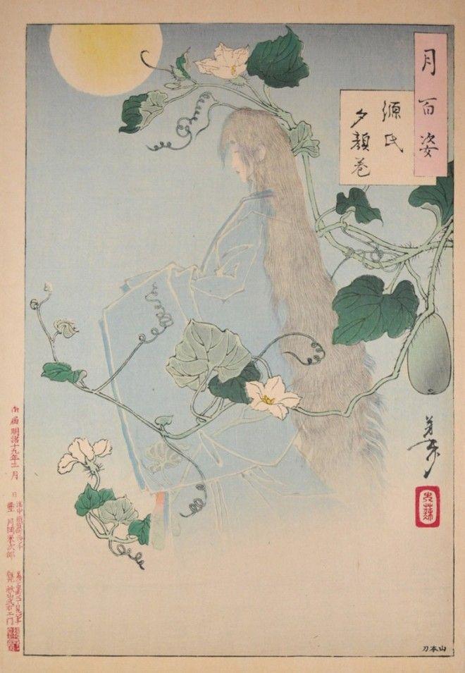 «Сто видов Луны» – величайшие гравюры мастера укиё-э Цукиока Ёситоси 19