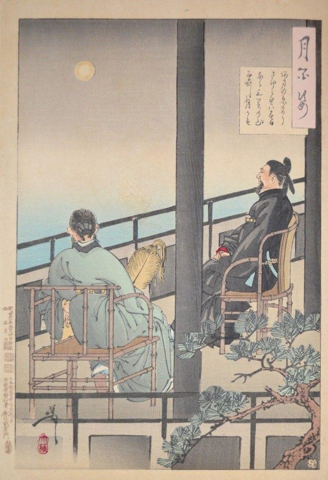 «Сто видов Луны» – величайшие гравюры мастера укиё-э Цукиока Ёситоси 20