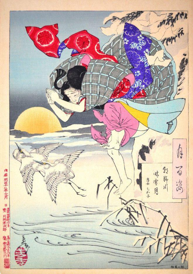 Сто видов Луны величайшие гравюры мастера укиёэ Цукиока Ёситоси 2