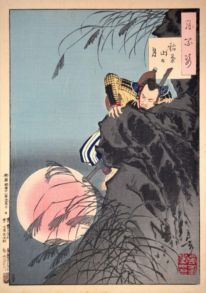 «Сто видов Луны» – величайшие гравюры мастера укиё-э Цукиока Ёситоси 4