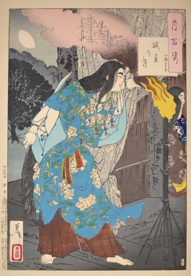 «Сто видов Луны» – величайшие гравюры мастера укиё-э Цукиока Ёситоси 5