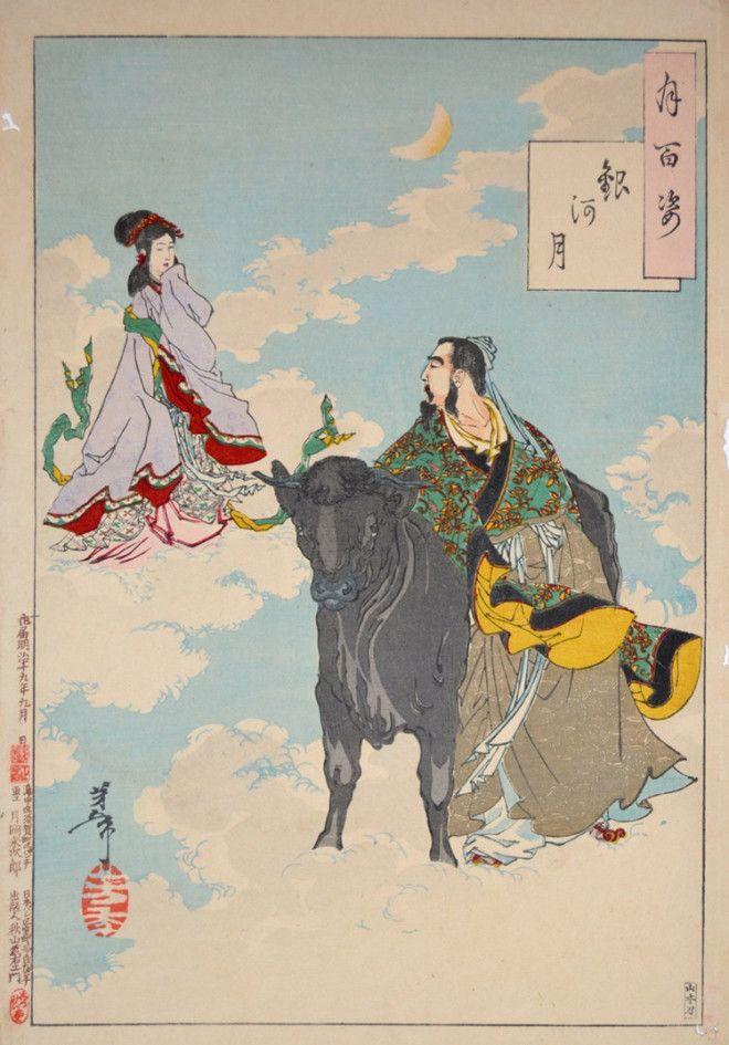 «Сто видов Луны» – величайшие гравюры мастера укиё-э Цукиока Ёситоси 8