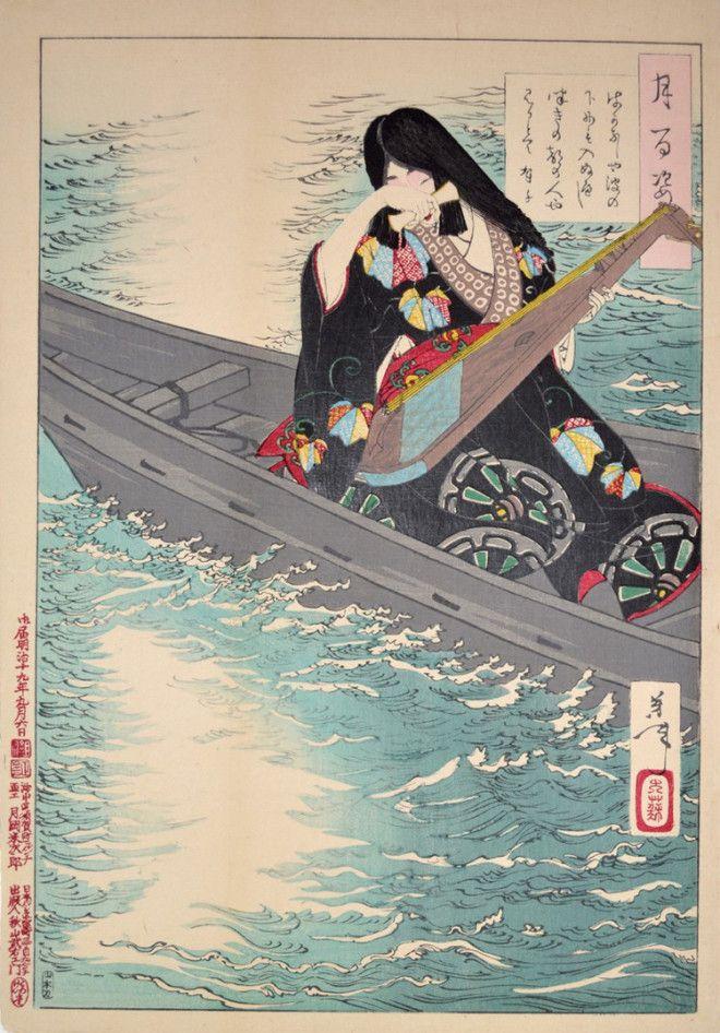 «Сто видов Луны» – величайшие гравюры мастера укиё-э Цукиока Ёситоси 9