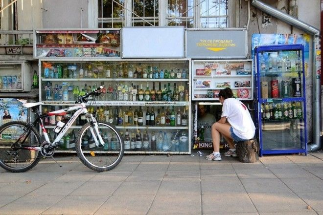 ларьки София столица Болгарии Klek приседать
