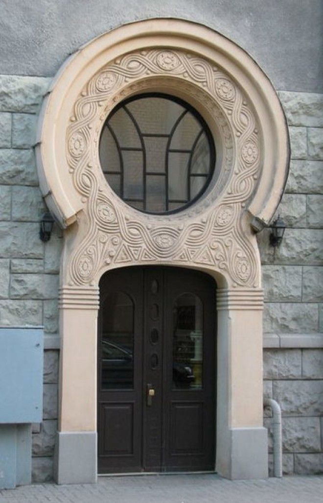 Деталь украшения на доме Проект Константина Пекшенса 1908 год