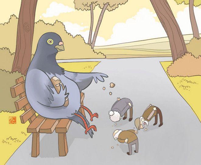 Почувствуйте нашу боль если бы животные обращались с нами так же как мы с ними животные отношения рисунок фантазия