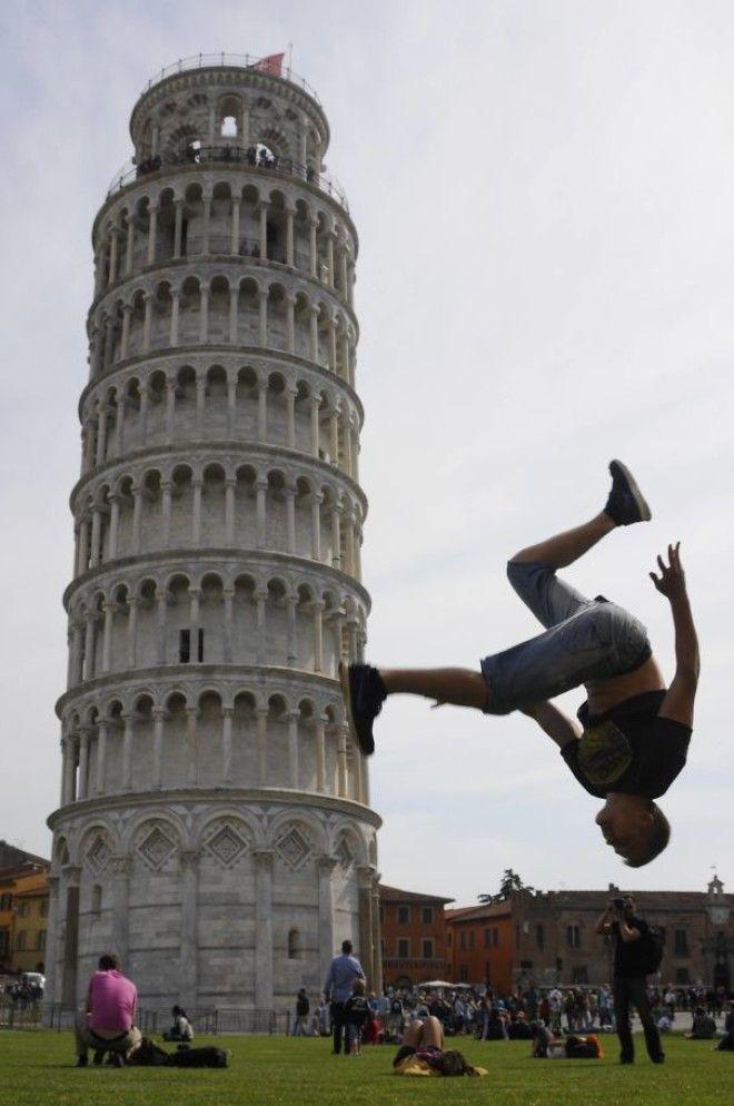 13 фото людей которые знают как правильно позировать с Пизанской башней