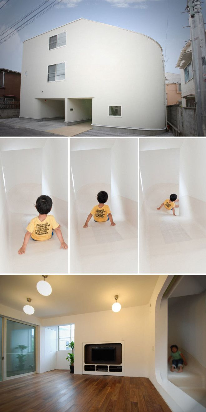 Unusual Slide House In Japan