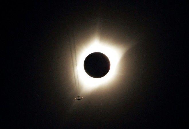Полное солнечное затмение в США: как это было