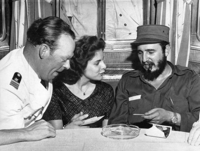 Марита Лоренц и Фидель Кастро 1959 Фото wasmedia