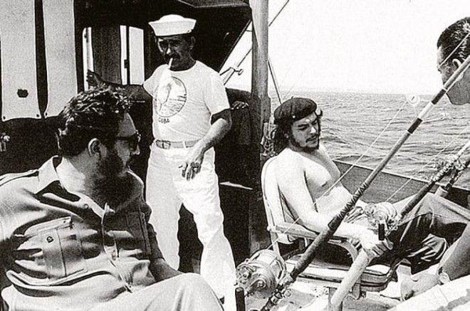 Фидель Кастро и Че Гевара на рыбалке Фото kpru