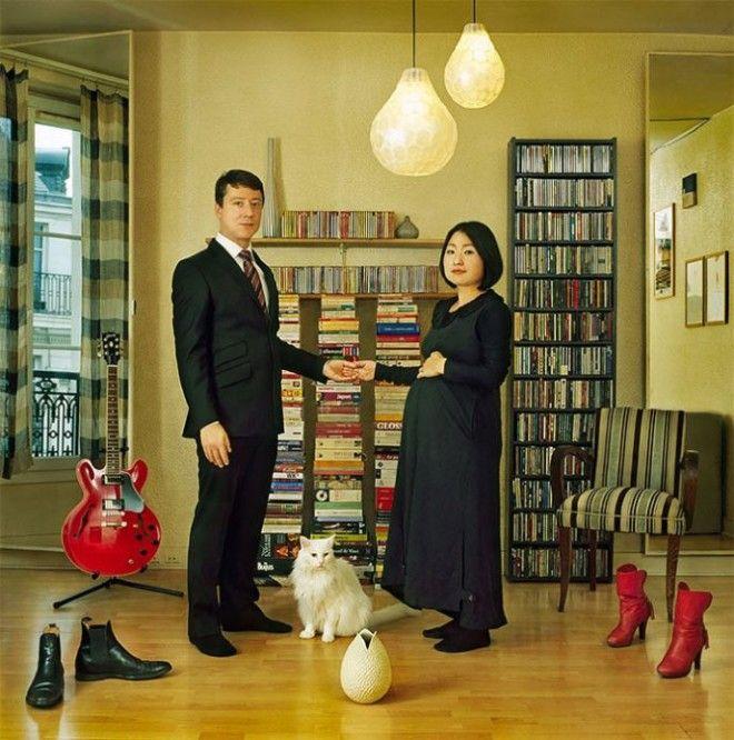BЯпонский художник создает яркие портреты людей в окружении своих вещей