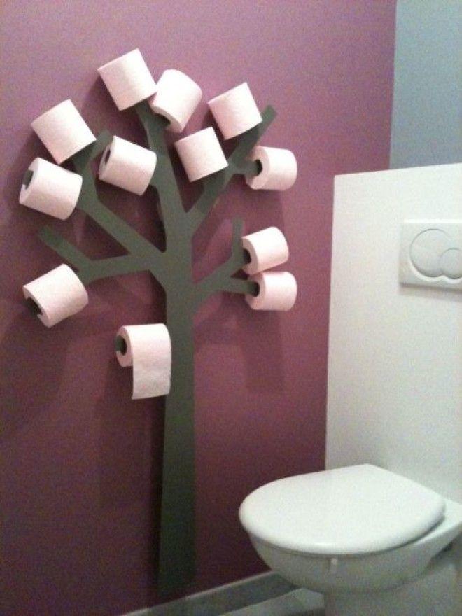 Держатель для туалетной бумаги в форме дерева