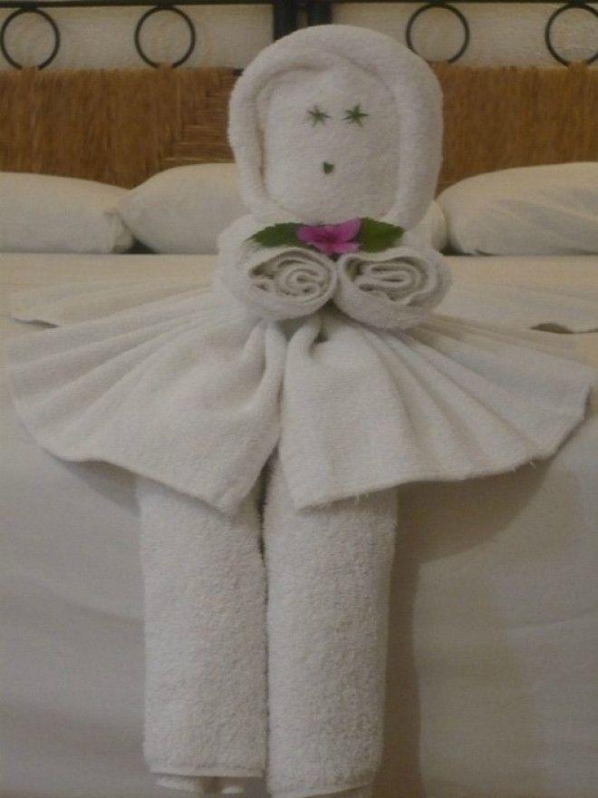 Куколка из полотенец