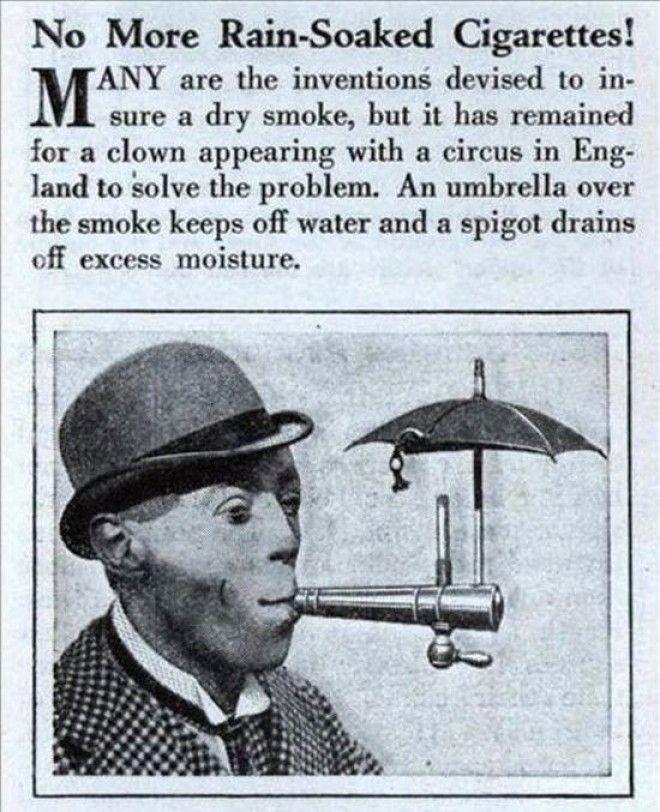 Для любителей курить под дождем бред изобретателя, ненужное, оригинально, смешно, странные вещи, странные люди, товар, юмор