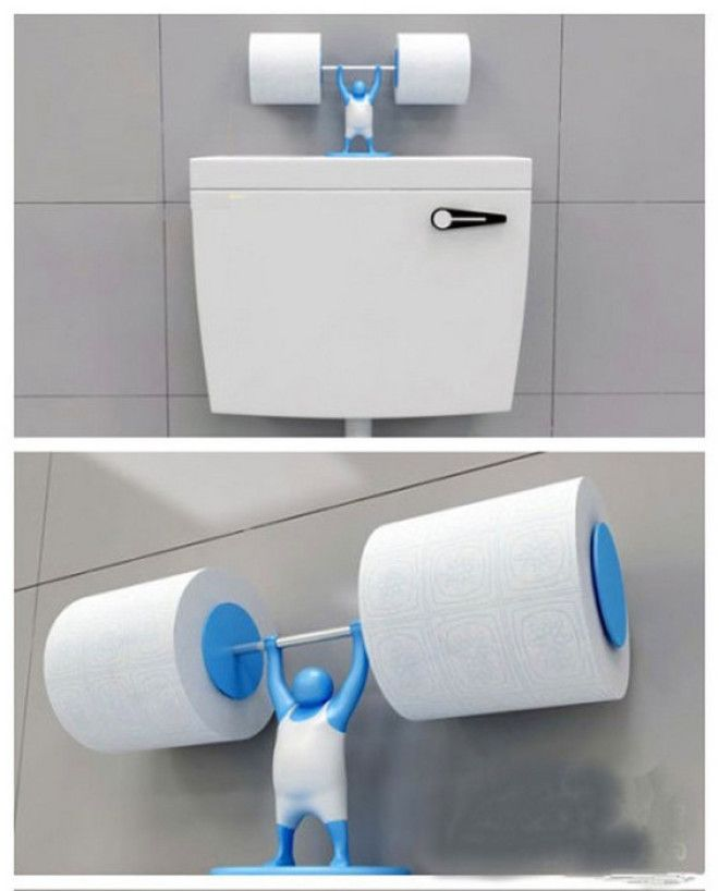 Держатель сразу для двух рулонов туалетной бумаги будет отлично смотреться если поставить его на бачок унитаза