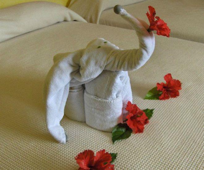 Слоник из полотенца