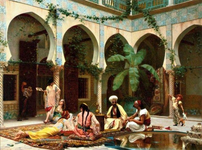 Кроме султана из мужчин в гареме могли находиться только евнухи