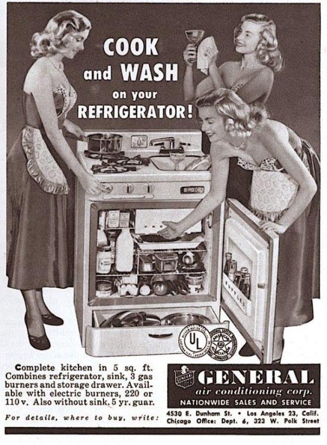 Для маленькой кухни: плита, раковина и холодильник в общем корпусе бред изобретателя, ненужное, оригинально, смешно, странные вещи, странные люди, товар, юмор