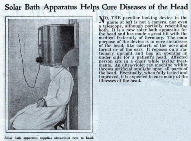 Солнечные ванны для головы! Продавец утверждает, что, регулярно облучая голову ультрафиолетом, можно избавиться от надоедливых зимних насморков бред изобретателя, ненужное, оригинально, смешно, странные вещи, странные люди, товар, юмор