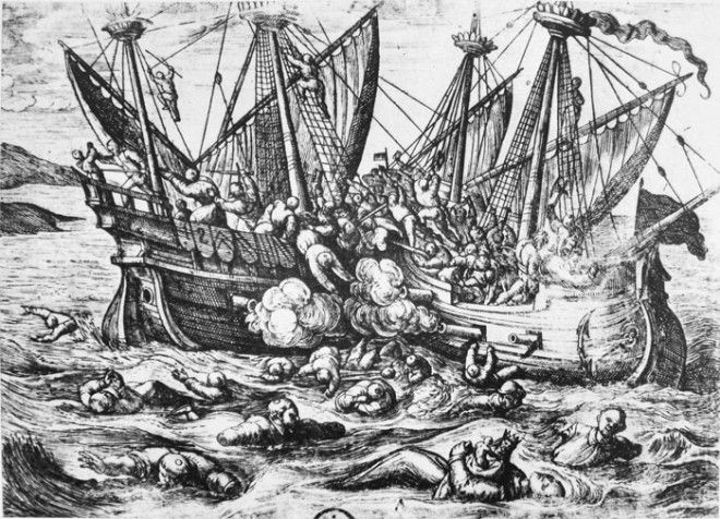 Атака пиратов Жанны де Клиссон