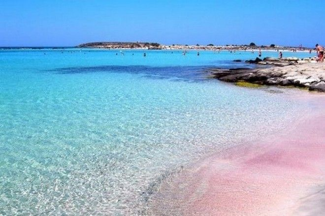 Розовый пляж Лагуна Балос