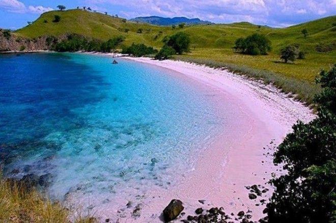 Розовый пляж Танси