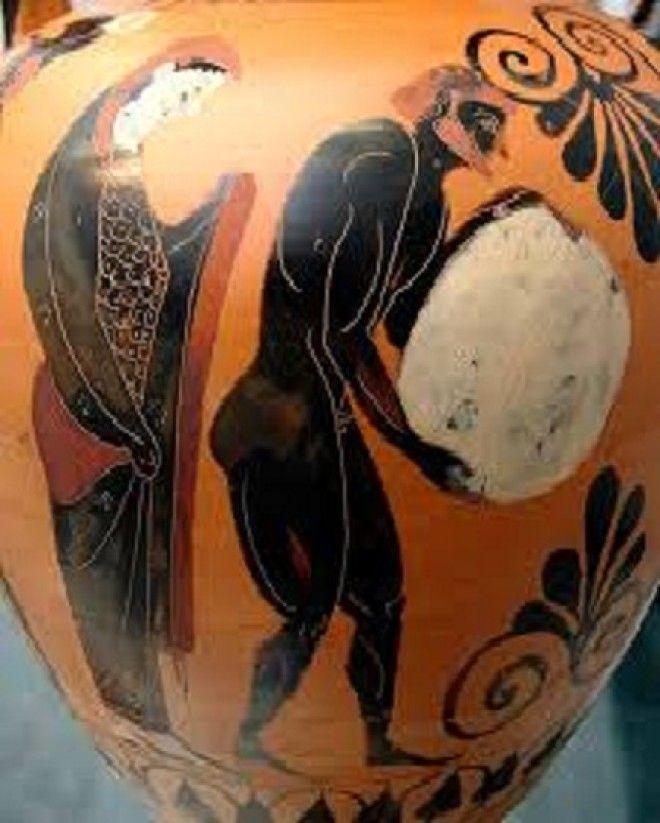 Персефона смотрит на Сизифов труд в подземном царстве Аида Аттическая чернофигурная амфора ок 530 до Р Х