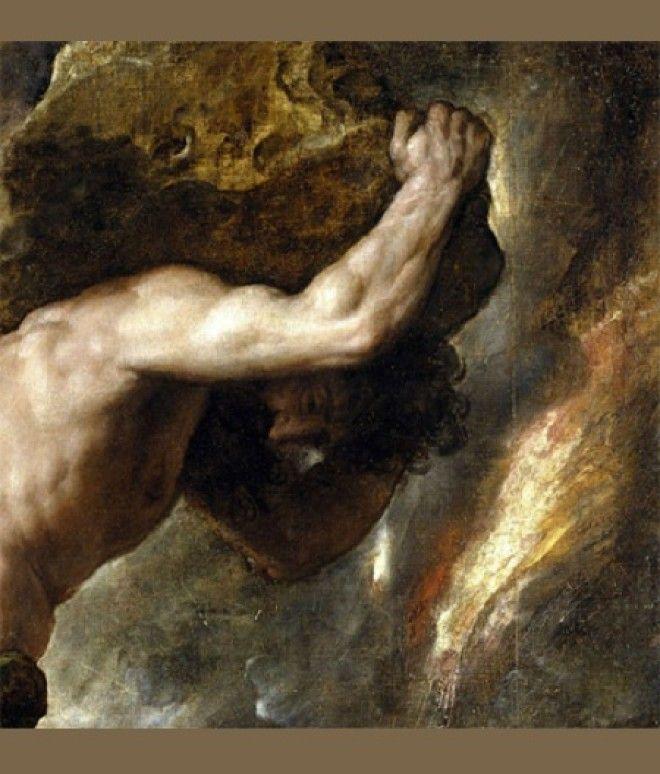 Тициано Вечеллио Наказание Сизифа Фрагмент15471549