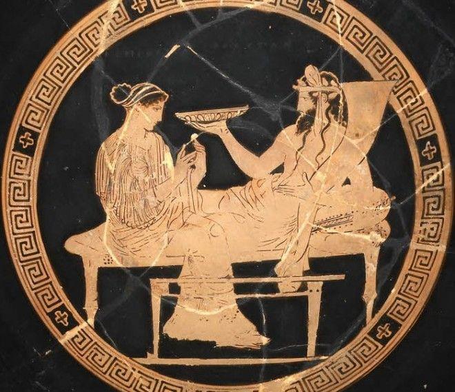 Боги мертвых brАид и Персефона Античная вазопись